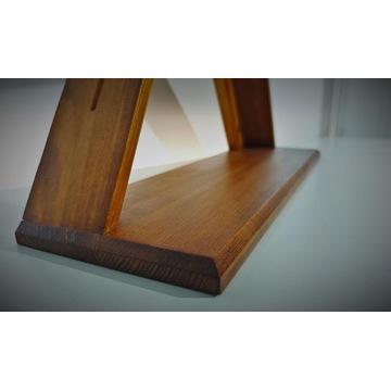 Trójkątna półka sosnowa (kolor olcha)