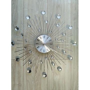 Zegar ścienny z kryształkami 50cm