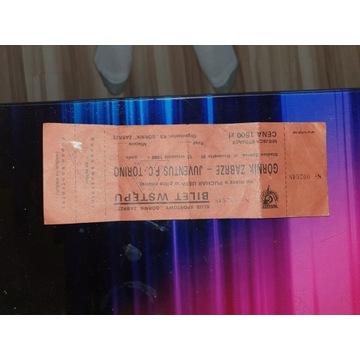 Bilet Górnik Zabrze - Juventus Turyn 12.09.1989
