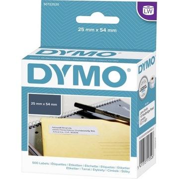 Etykieta Dymo 25x54 mm S0722520 oryginalne 500szt.