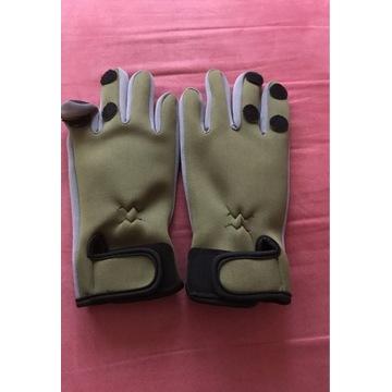 Rękawice neopranowe wędkarskie M