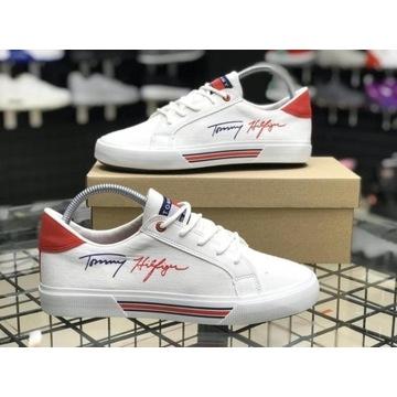 Buty białe Tommy damskie
