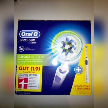 Oral-B PRO 690 Duo Pack 3D nowe / powystawowe