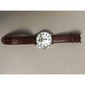 CARTIER - 95% zegarek nowy automat skórzany pasek