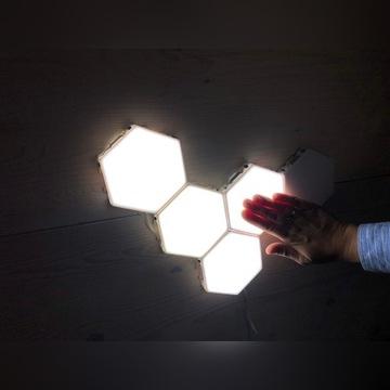 Lampa led modułowa, dotykowa DIY 230V 5cz. Design