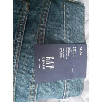 spodnie męskie jeans GAP Denim boot-cut 32x34
