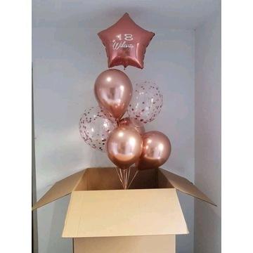 Pudło z balonami /odbiór osobisty Rybnik
