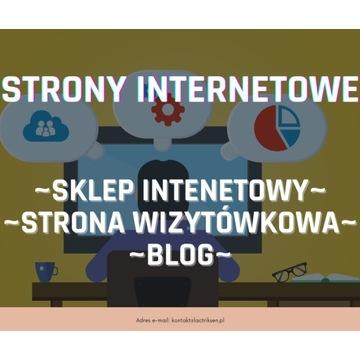 STRONA INTERNETOWA - WIZYTÓWKA / SKLEP / BLOG