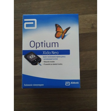 Glukometr Optium Xido Neo, zestaw,paski do ketonów