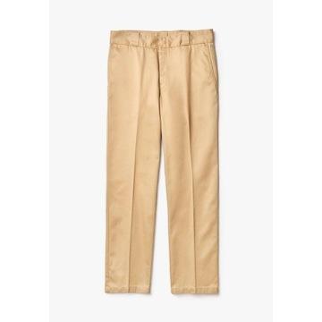 Spodnie materiałowe - beżowe Lacoste LIVE roz. 40