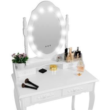 Toaletka Kosmetyczna z Lustrem LED