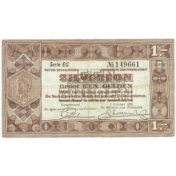 HOLANDIA 1 Gulden 1938 ZILVERBON
