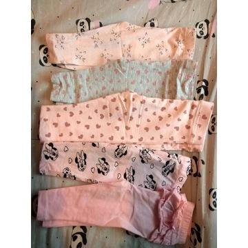 5x leginsy spodnie 74