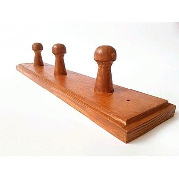 wieszak drewniany wiszący ścienny 29cm