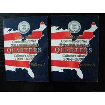 Stany USA klaser 25 cent QUARTER DOLLAR 1991-2008