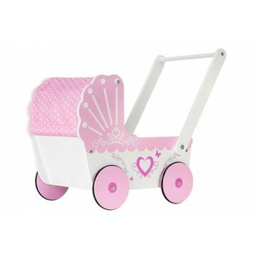 Drewniany wózek dla lalek, chodzik, pchacz