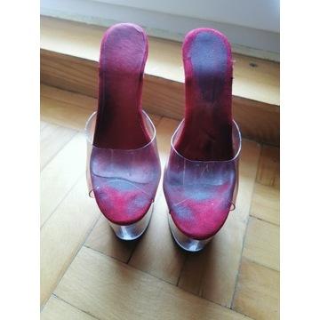 Szklanki, buty do pole dance roz. 37