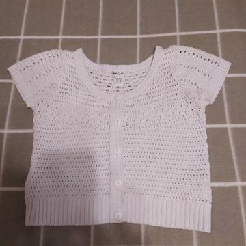 sweterek bolerko krótki rękaw H&M ażur r. 146