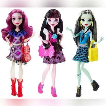 Monster High Modne Straszyciółki 3Szt Okazja!!!