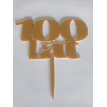 TOPPER NA TORT ZŁOTY 100 LAT