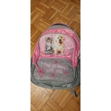 Plecak dziecięcy szkolny wycieczkowy kot pies