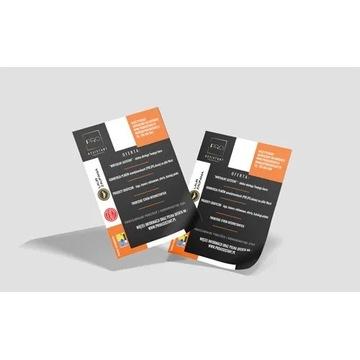 Strona WWW + Logo + Wizytówka + Ulotka + Hosting