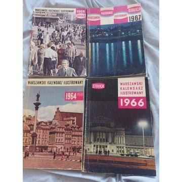 Warszawski kalendarz Ilustrowany:1964,196619671968
