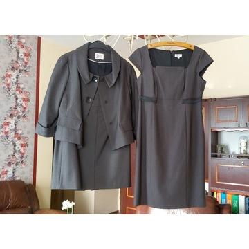 Komplet sukienka żakiet spódnica elegancki 38