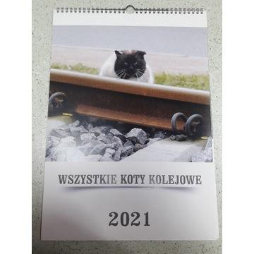 Kalendarz koty na torach, semaforach, nastawniach