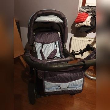 Wózek 2w1 Baby Merc kolor grafit/niebieski