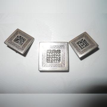 Komplet Wisior Kolczyki srebro 925 całość 15,3 gr.