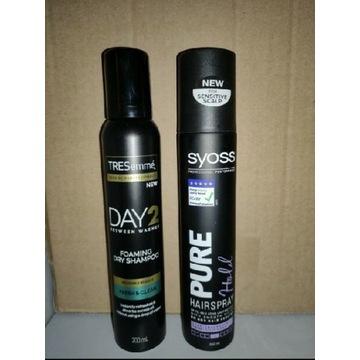 Lakier suchy szampon KOMPLET