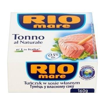 RIO MARE - tuńczyk w sosie własnym 160 g