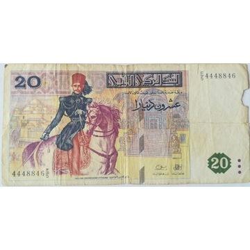 20 dinarów banknot Tunezja 1992 rok
