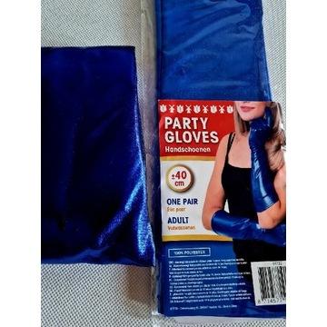 Rękawiczki i spodnie leginsy niebieskie