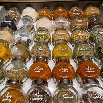 Etykiety na przyprawy słoiczki naklejki ikea