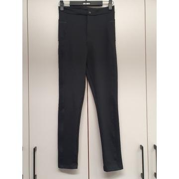 Spodnie LABELLAMAFIA czarne na zamek r. M -50%
