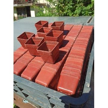 Doniczki kwadratowe 5x5 cm używane 50 sztuk