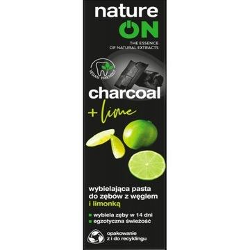 Nature ON charcoal white + lime pasta do zębów