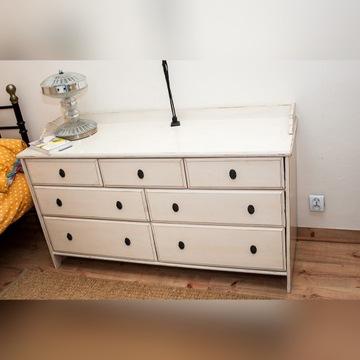 duża komoda 7 szuflad IKEA postarzana shabby chic