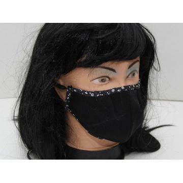 Maska maseczka bawełna+ 3warstwy streetwear