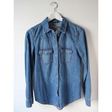 Koszula jeansowa TOPSHOP MOTO denim