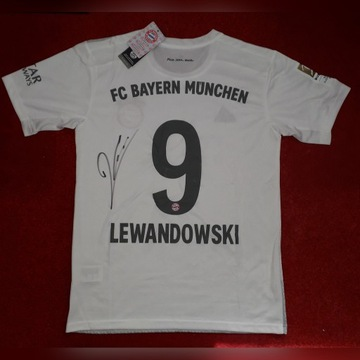 Koszulka Bayernu Robert Lewandowski autograf!