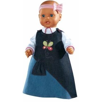 Ubranka dla lalek jeansowa sukienka  42-48 cm