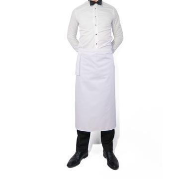 Zapaska kelnerska biała dluga 85cm