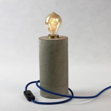 Lampa loft beton - szara, Edisona, industrialna