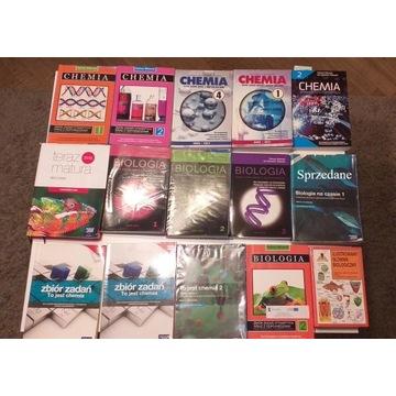 Zbiór książek biologiczno-chemicznych