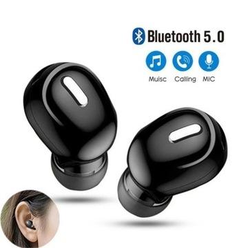 Mini douszne słuchawki 5.0 Bluetooth