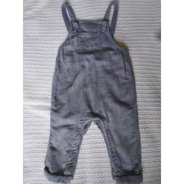 Baby exclusive spodnie na szelkach roz.74 H&M