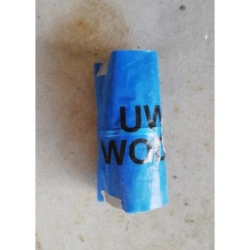 """Folia """"Uwaga wodociąg"""" z taśmą metalową, 20cm, 12m"""